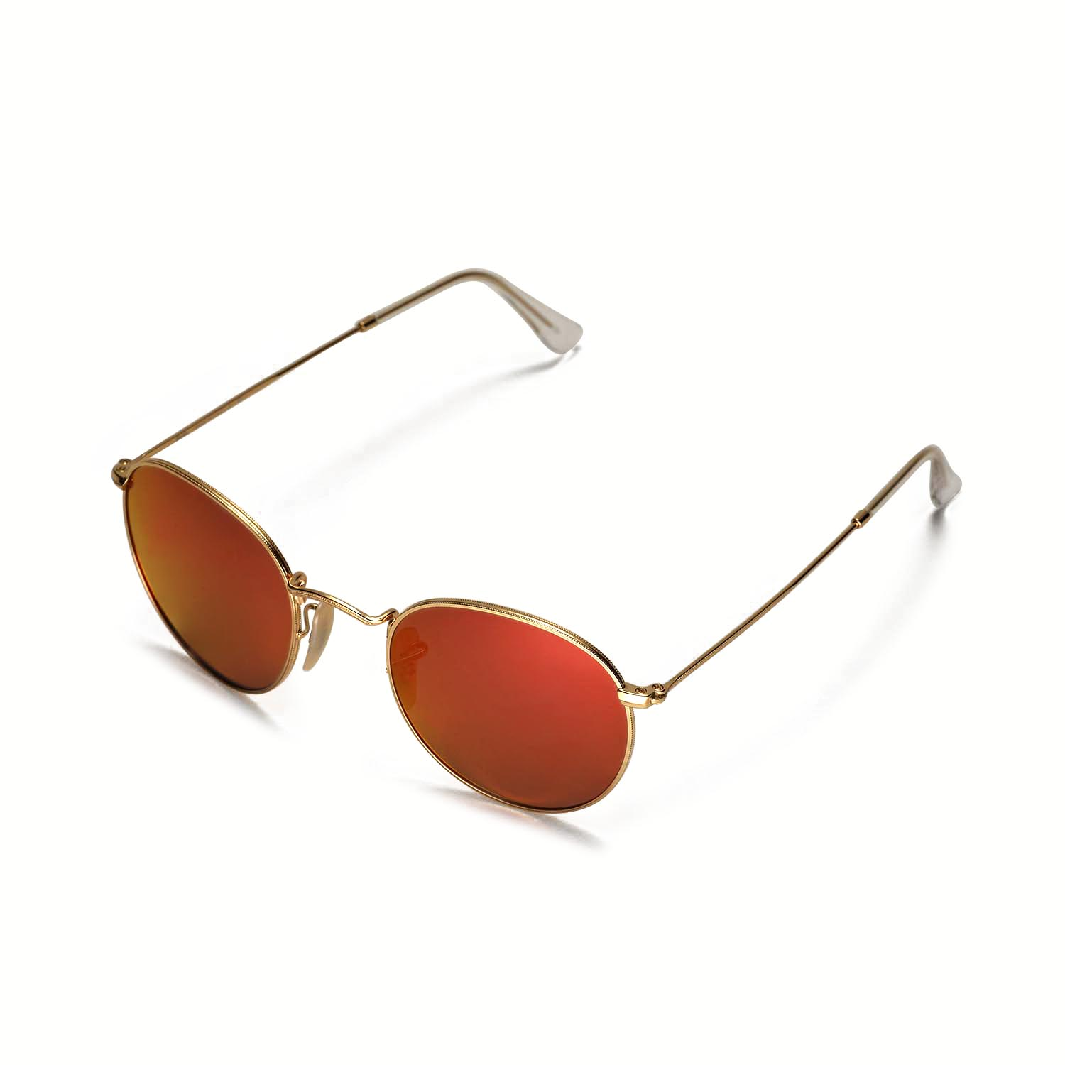 a6e6ef3b83808 Details about Walleva Polarized Fire Red Lenses For Ray-Ban Round Metal  RB3447 50mm Sunglasses