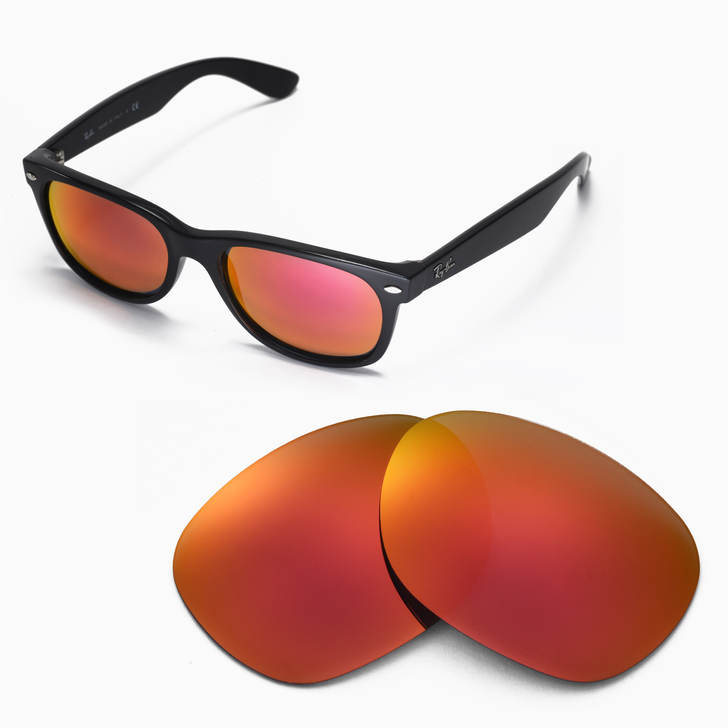 2ab202277a Walleva Lenses For Ray-Ban Wayfarer RB2132 55mm - Selected Color x1
