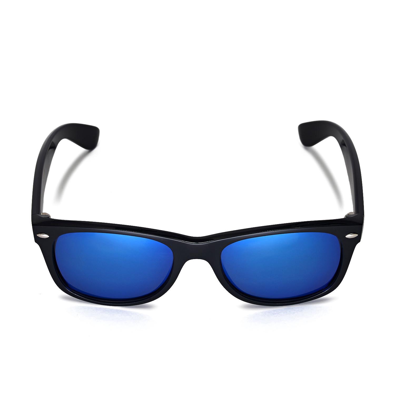 b7e39ad8a5 Walleva Polarized Ice Blue Lenses for Ray-Ban Wayfarer 2132 52mm x1  Walleva  Microfiber Lens Cleaning Cloth x1