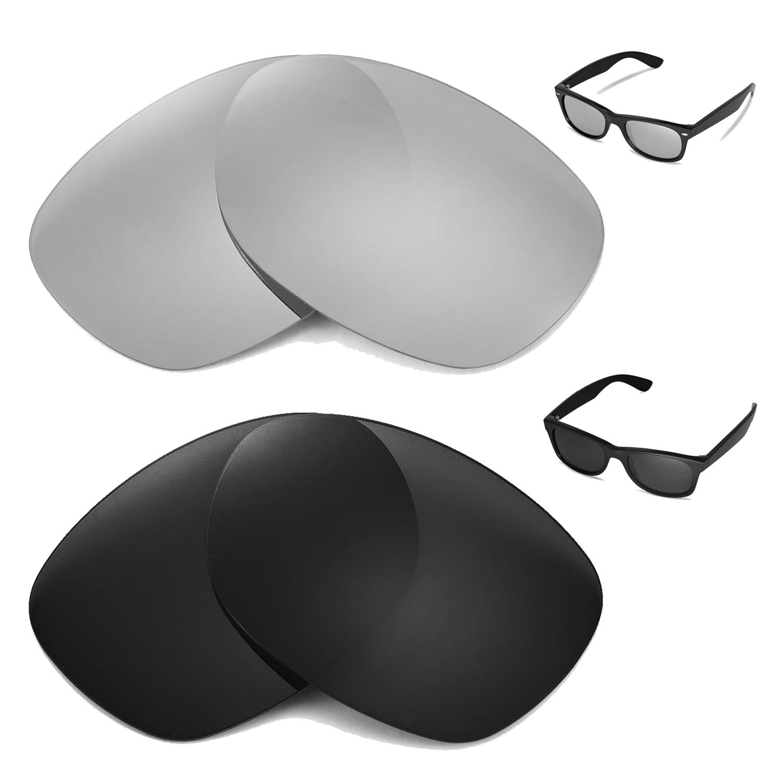 310d9d5e029 Details about New Walleva Polarized Titanium + Black Lenses For Ray-Ban  Wayfarer RB2132 52mm