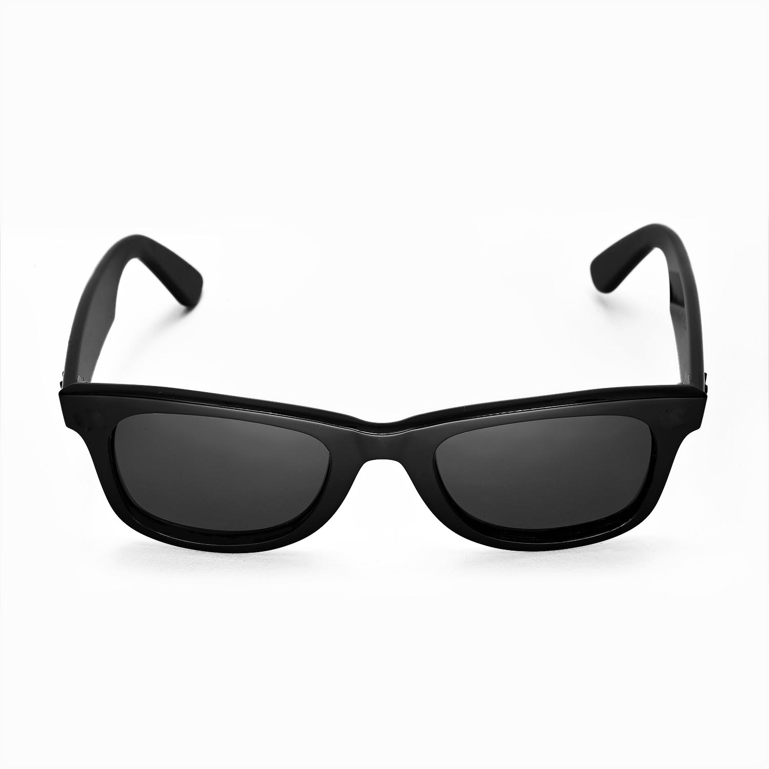 27a9e6afb0a New Walleva Polarized Black Lenses For Ray-Ban Wayfarer RB2140 50mm ...