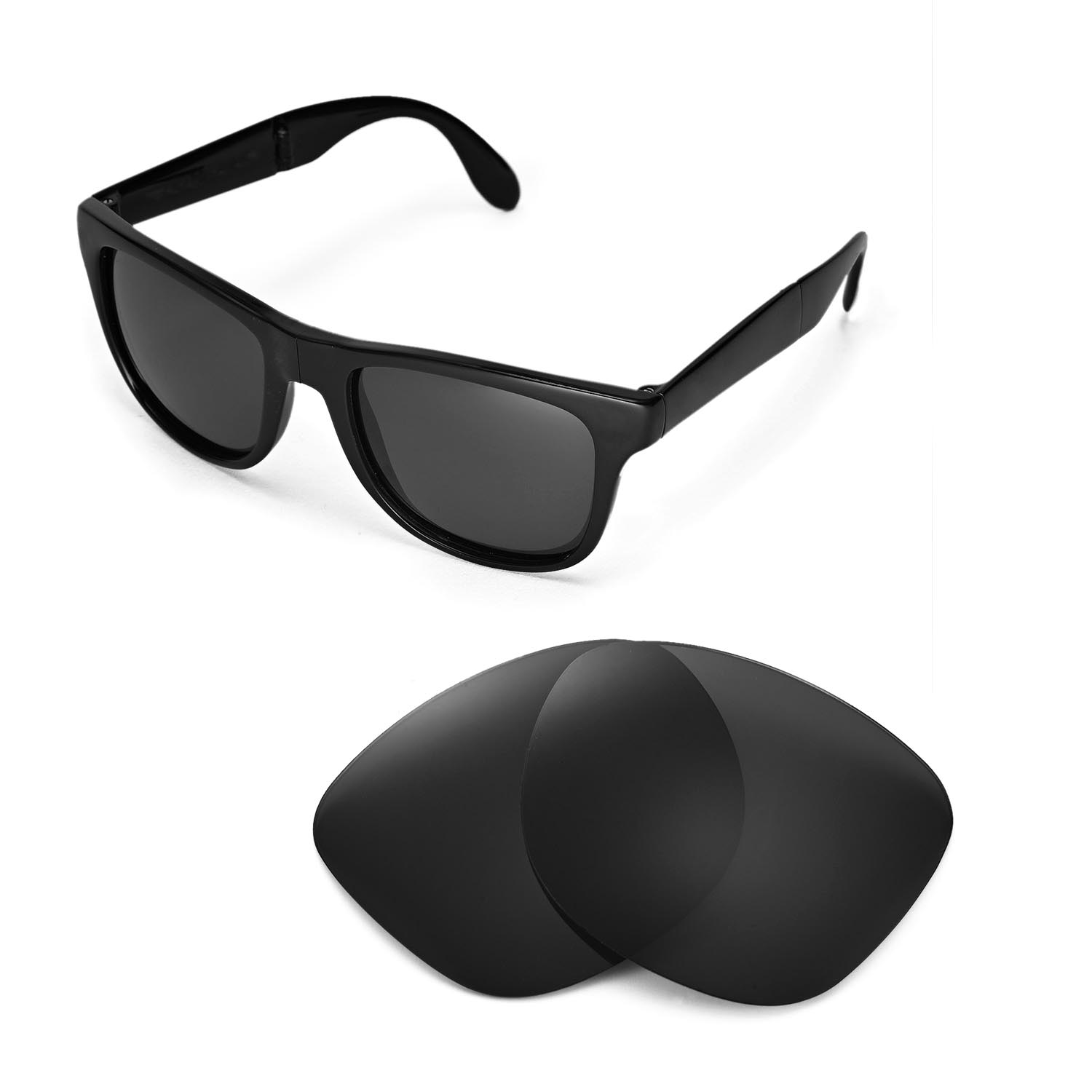 8b330e1f8db5b Details about New Walleva Polarized Black Lenses For Ray-Ban Wayfarer  RB4105 54mm Sunglasses