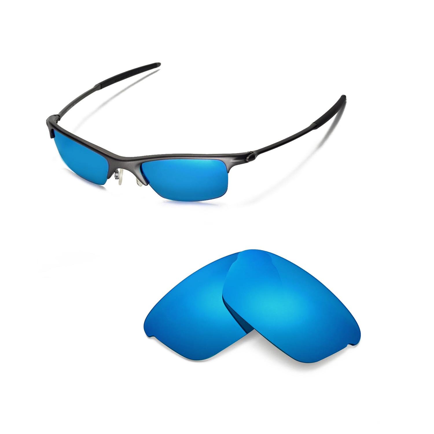 bd2883b2d4 Details about New Walleva Polarized Ice Blue Replacement Lenses For Oakley  Razrwire Sunglasses