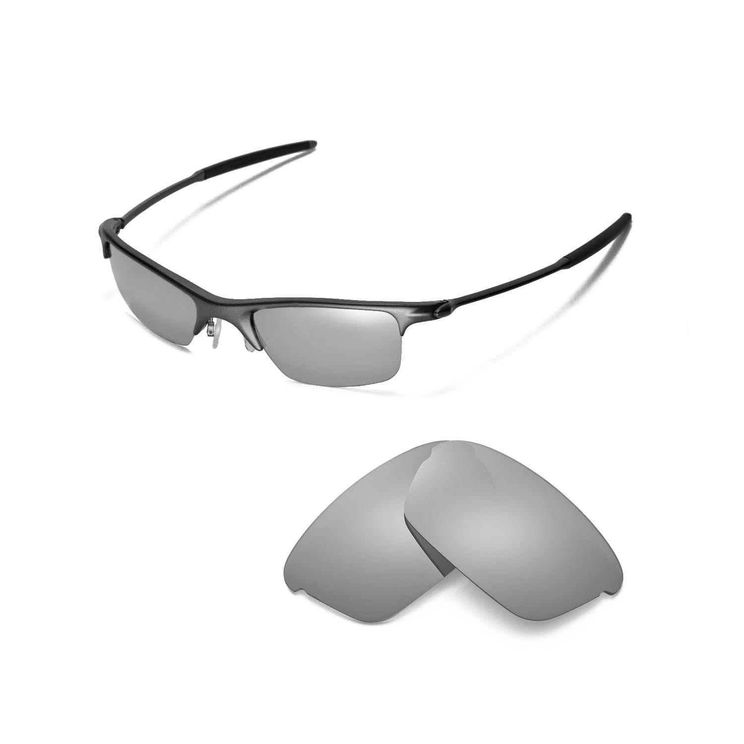 902e4ce3082ad Details about New Walleva Polarized Titanium Replacement Lenses For Oakley  Razrwire Sunglasses