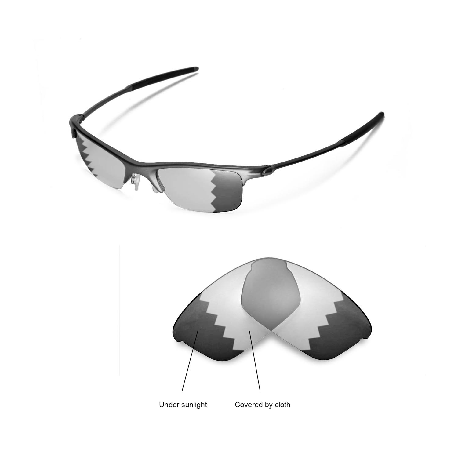 9be9b715ec Details about New Walleva Polarized Transition Replacement Lenses For Oakley  Razrwire