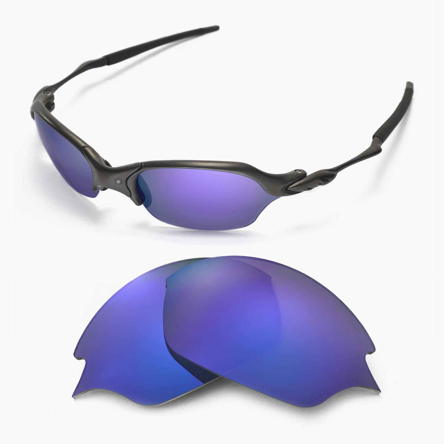 8485dccc310 Details about New Walleva Polarized Purple Replacement Lenses For Oakley  Romeo 2.0 Sunglasses