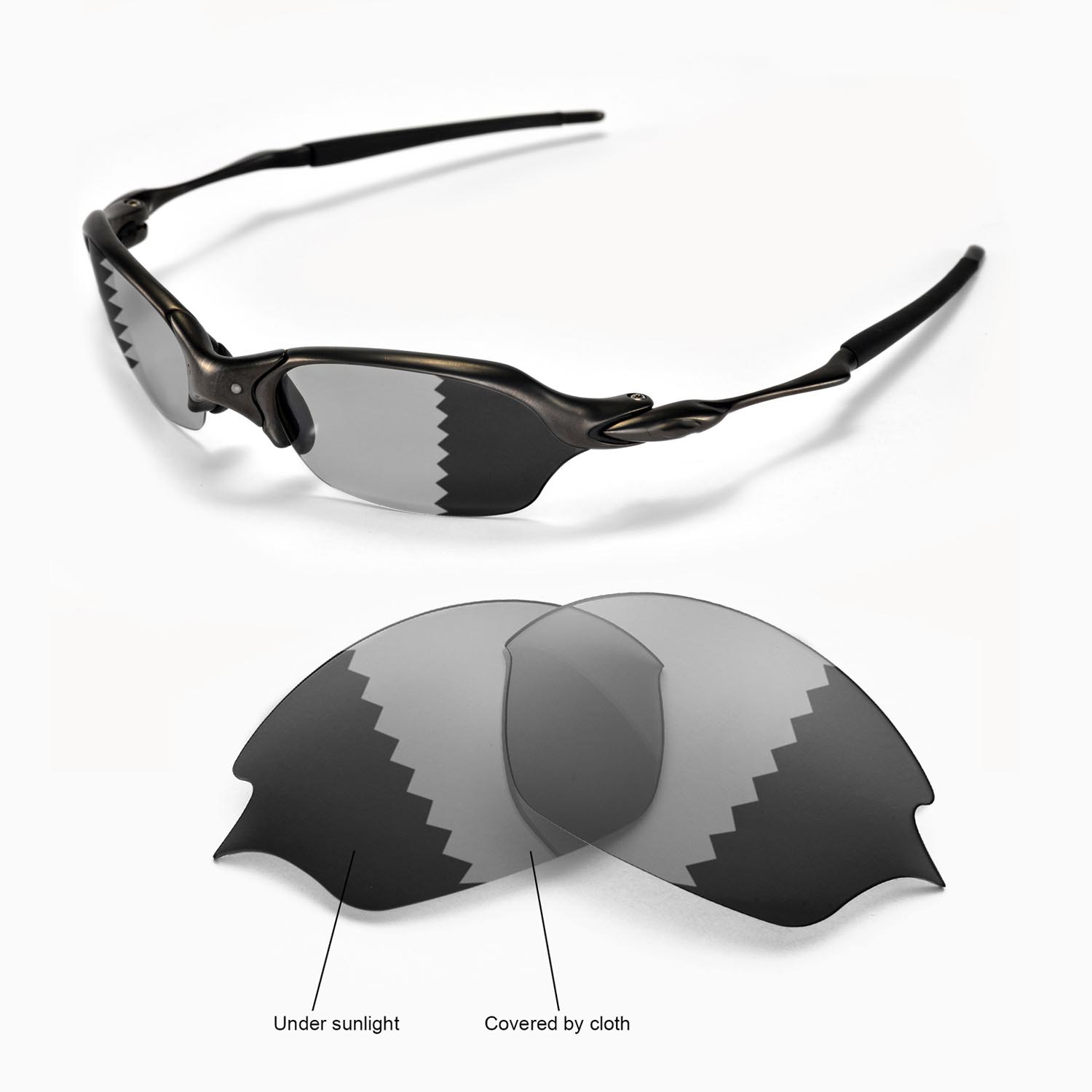 70c4e635ec Details about New Walleva Polarized Transition Photochromic Lenses For  Oakley Romeo 2.0