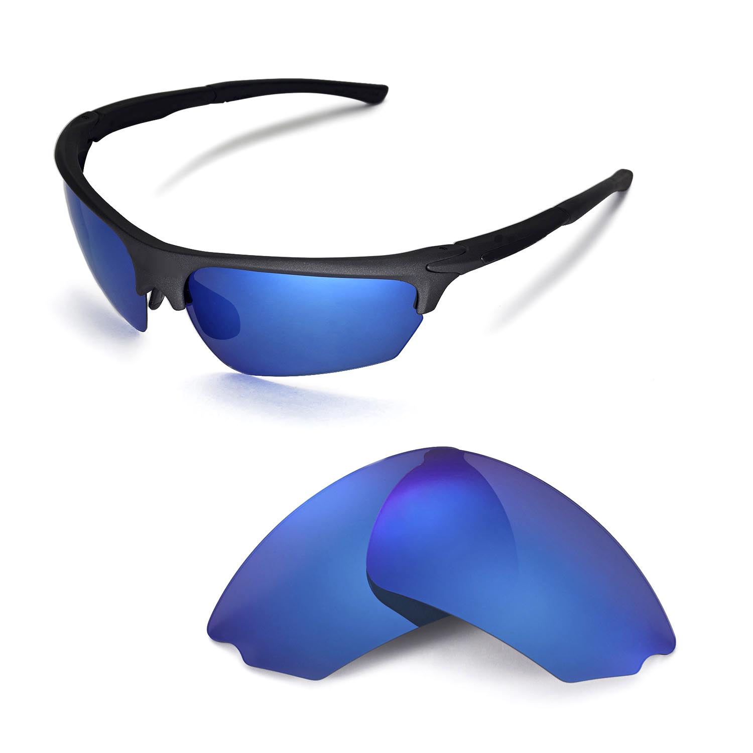 c904d5fe43 Details about New Walleva Polarized Ice Blue Lenses For Rudy Project Noyz  Sunglasses