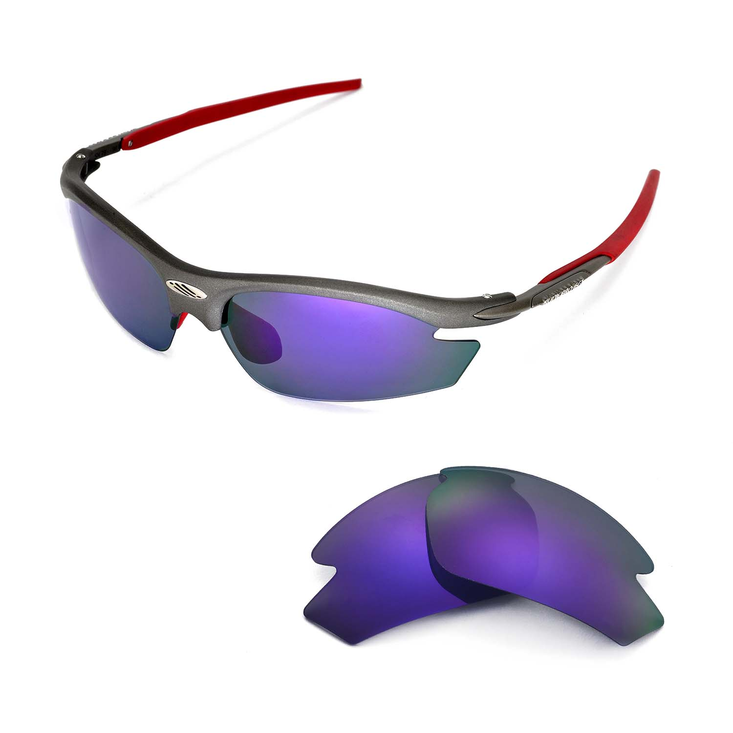 Walleva Polarized Purple Replacement Lenses For Rudy Project Rydon ...