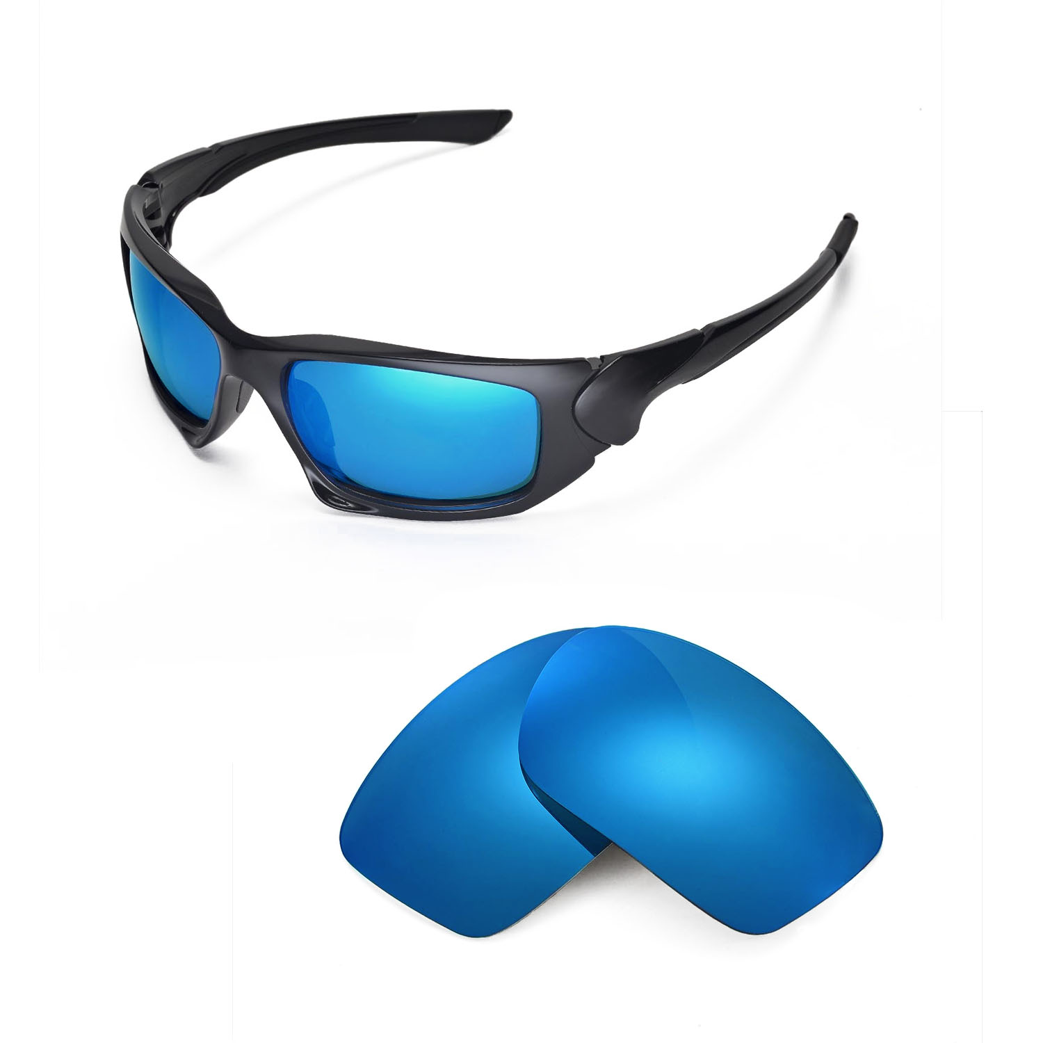 d26ffa1119 Details about New Walleva Polarized Ice Blue Replacement Lenses For Oakley  Scalpel Sunglasses