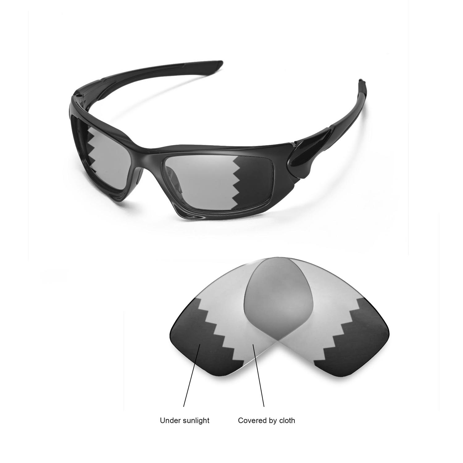 836b9f5d8251d Walleva Polarized Transition Replacement Lenses For Oakley Scalpel ...