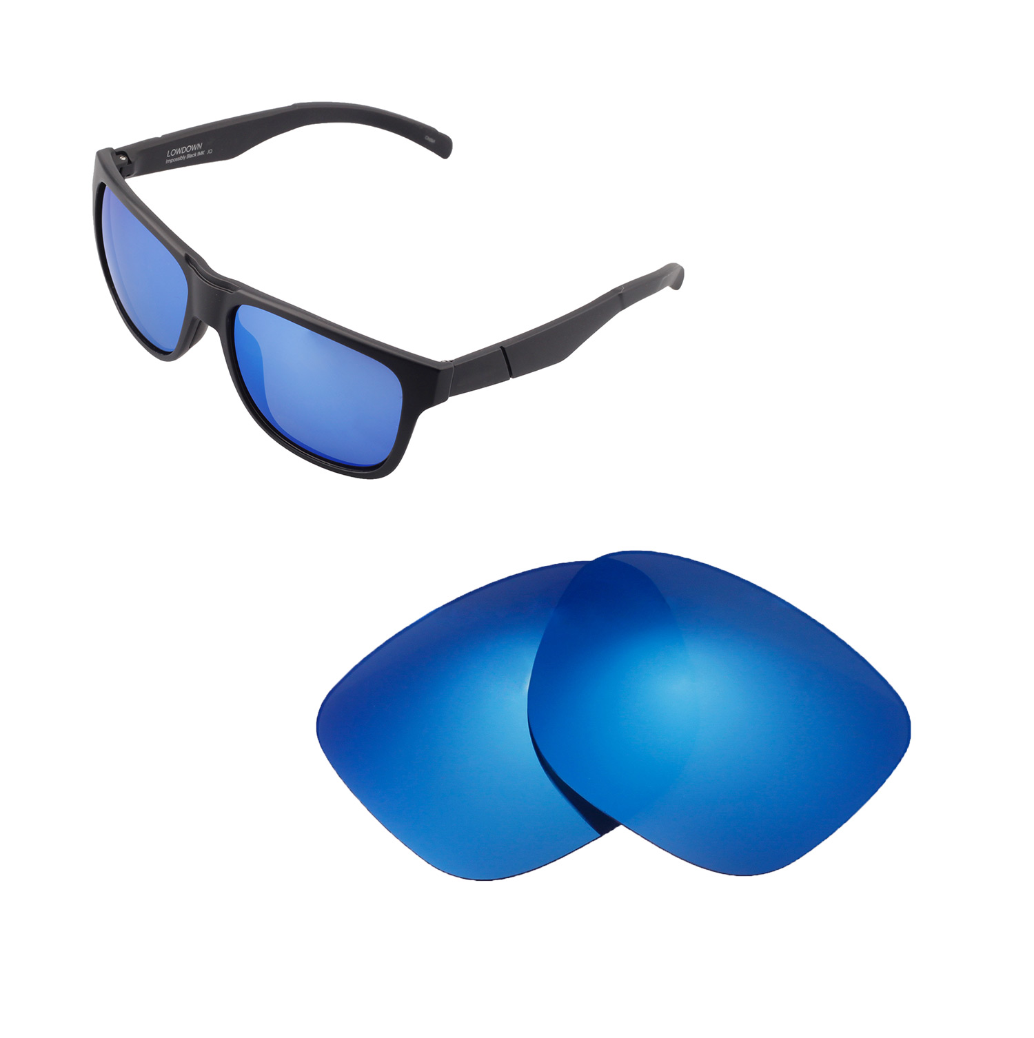 6646baf86d Details about Walleva Polarized Ice Blue Replacement Lenses For Smith  Lowdown