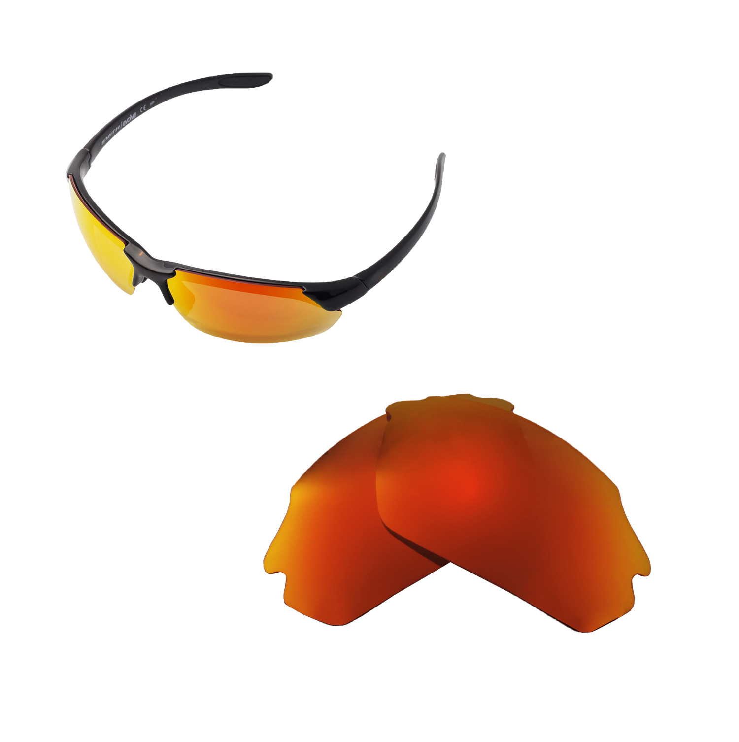 2d1d9face9 Walleva Polarized Lenses For Smith Parallel Max - Selected Color x1