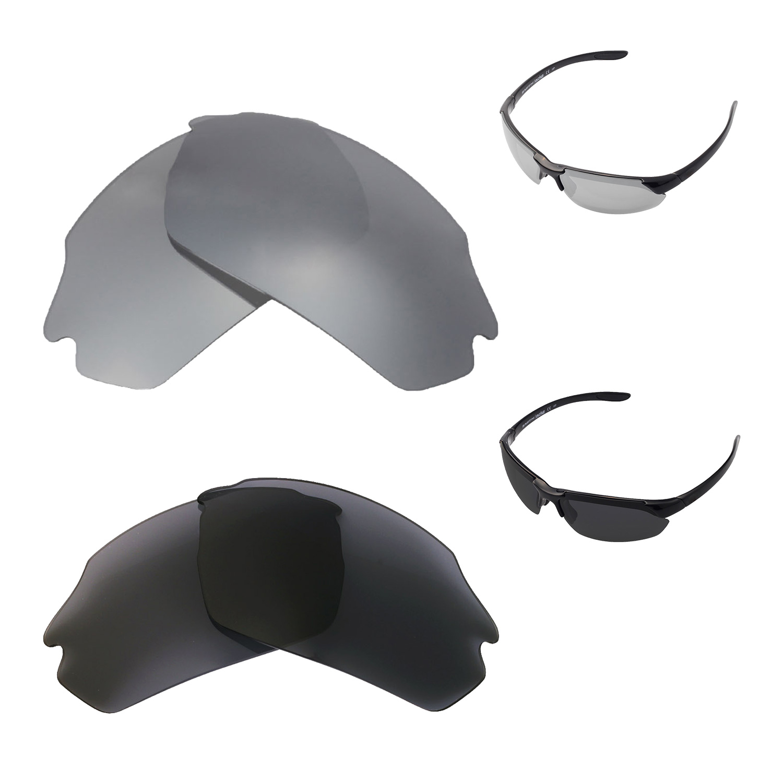 1fc9f7457f Details about Walleva Titanium+Black Polarized Lenses For Smith Parallel  Max Sunglasses