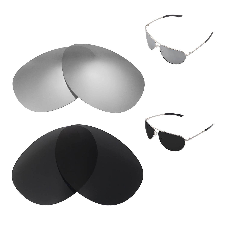 219dea25f3 Details about Walleva Titanium+Black Polarized Replacement Lenses For Smith  Serpico Sunglasses
