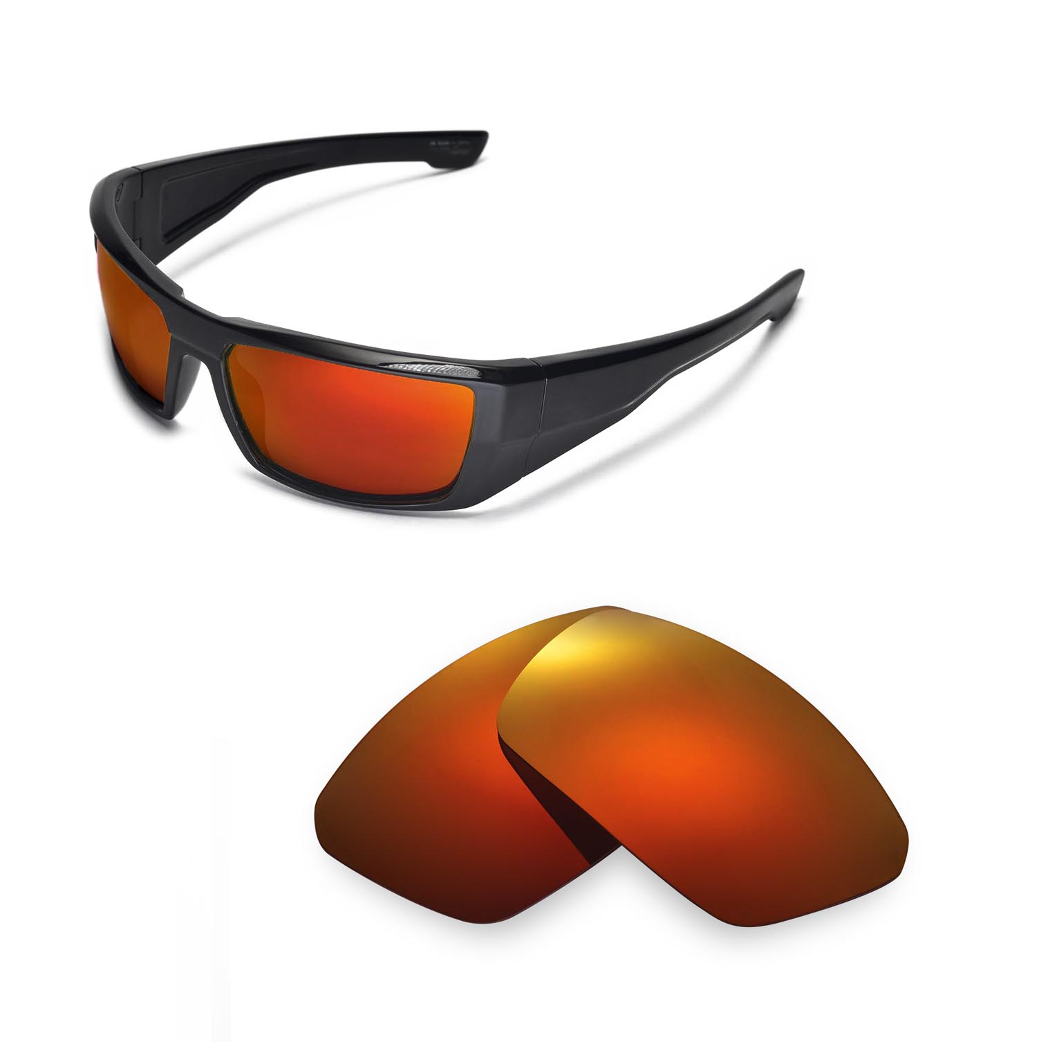 Walleva Fire Red Polarized Replacement Lenses For Spy Optic DIRK ... 618110def4