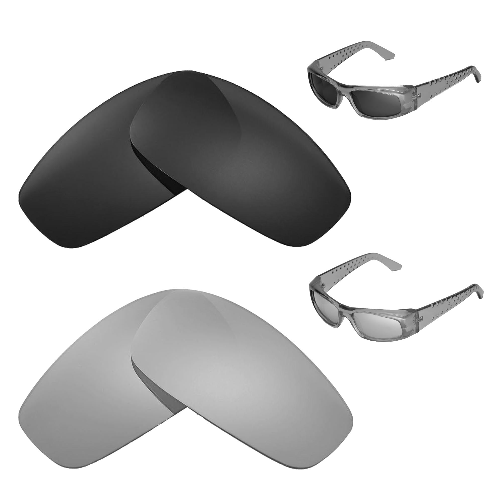 62e52420792 Details about Walleva Polarized Black+Titanium Replacement Lenses For Spy  Optic MC Sunglasses
