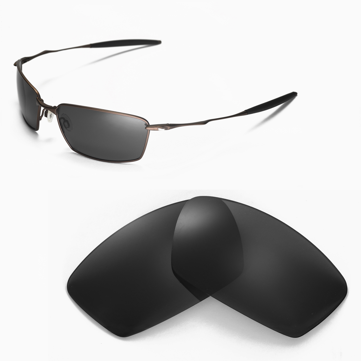 526bf1f554 Details about New WL Polarized Black Replacement Lenses For Oakley Square  Whisker Sunglasses