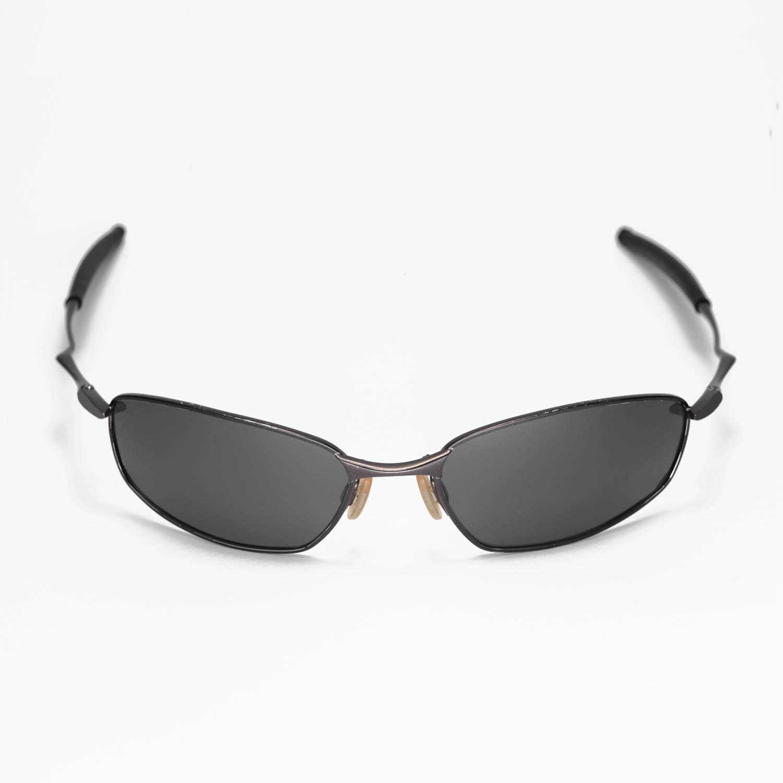 New Walleva Polarized Black + Titanium Lenses For Oakley Square Wire ...