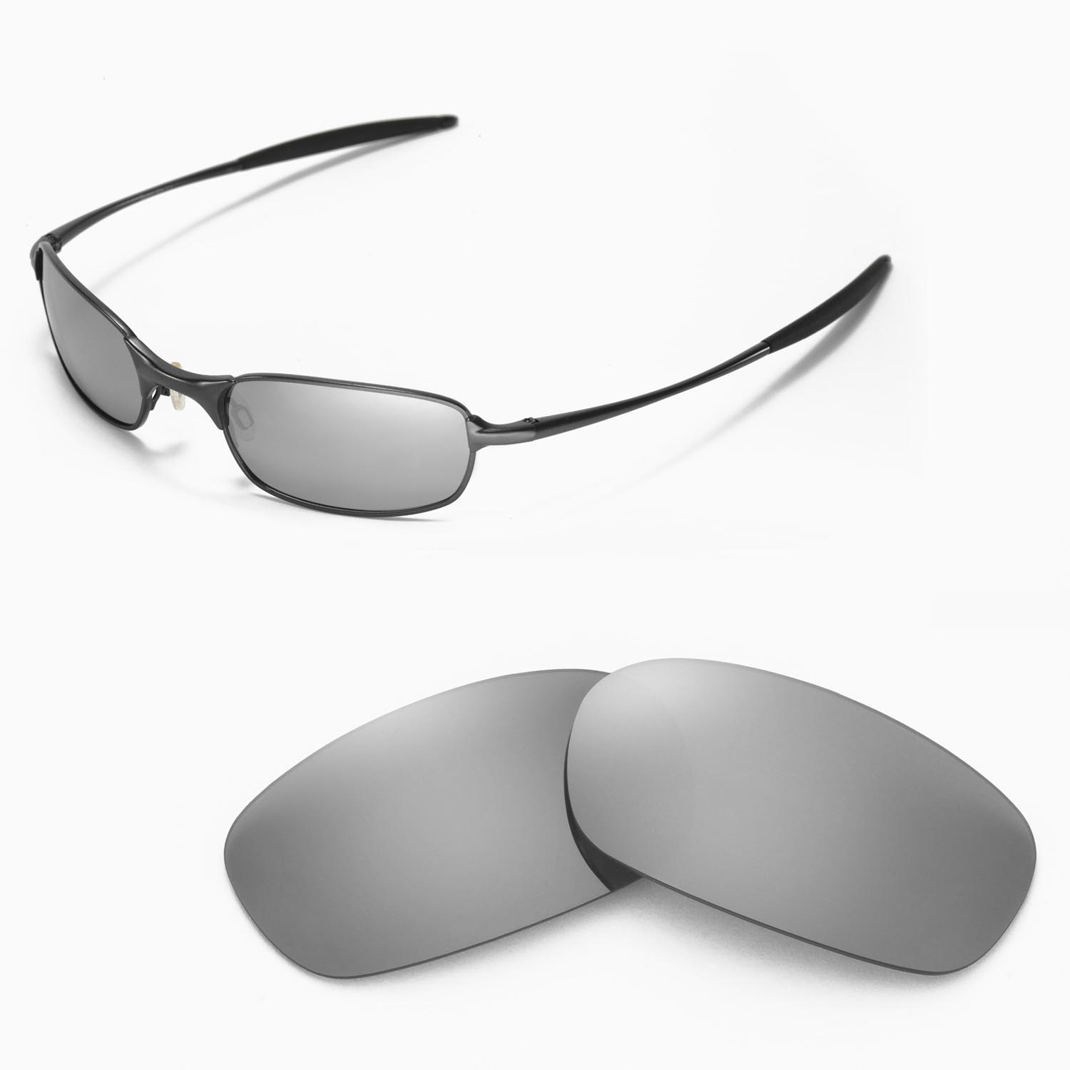 c65cdc0259 Details about New Walleva Polarized Titanium Replacement Lenses For Oakley  Square Wire 2.0