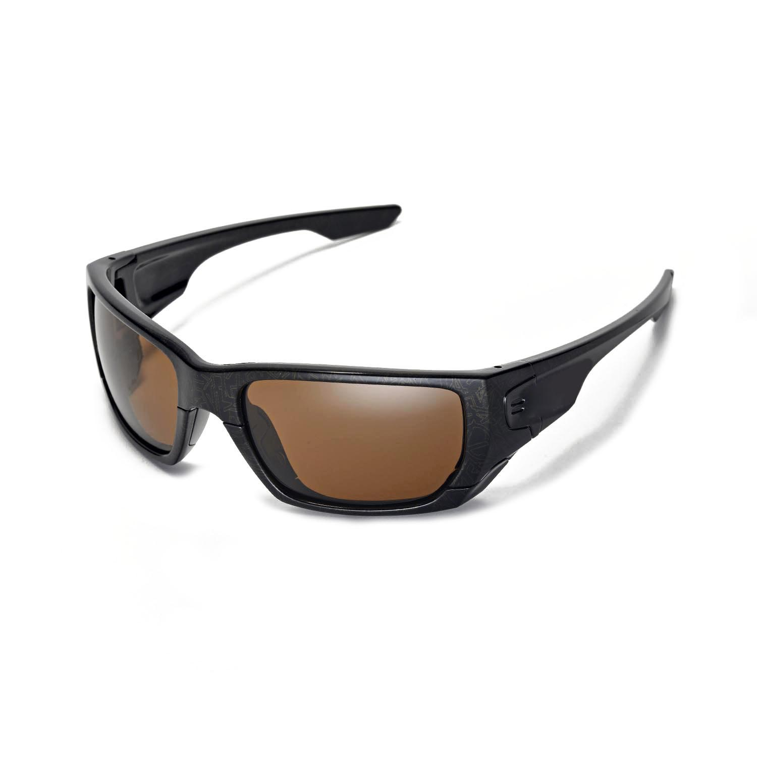 a025fa2f0a Details about Walleva Polarized Brown Lenses For Oakley Style Switch  Sunglasses