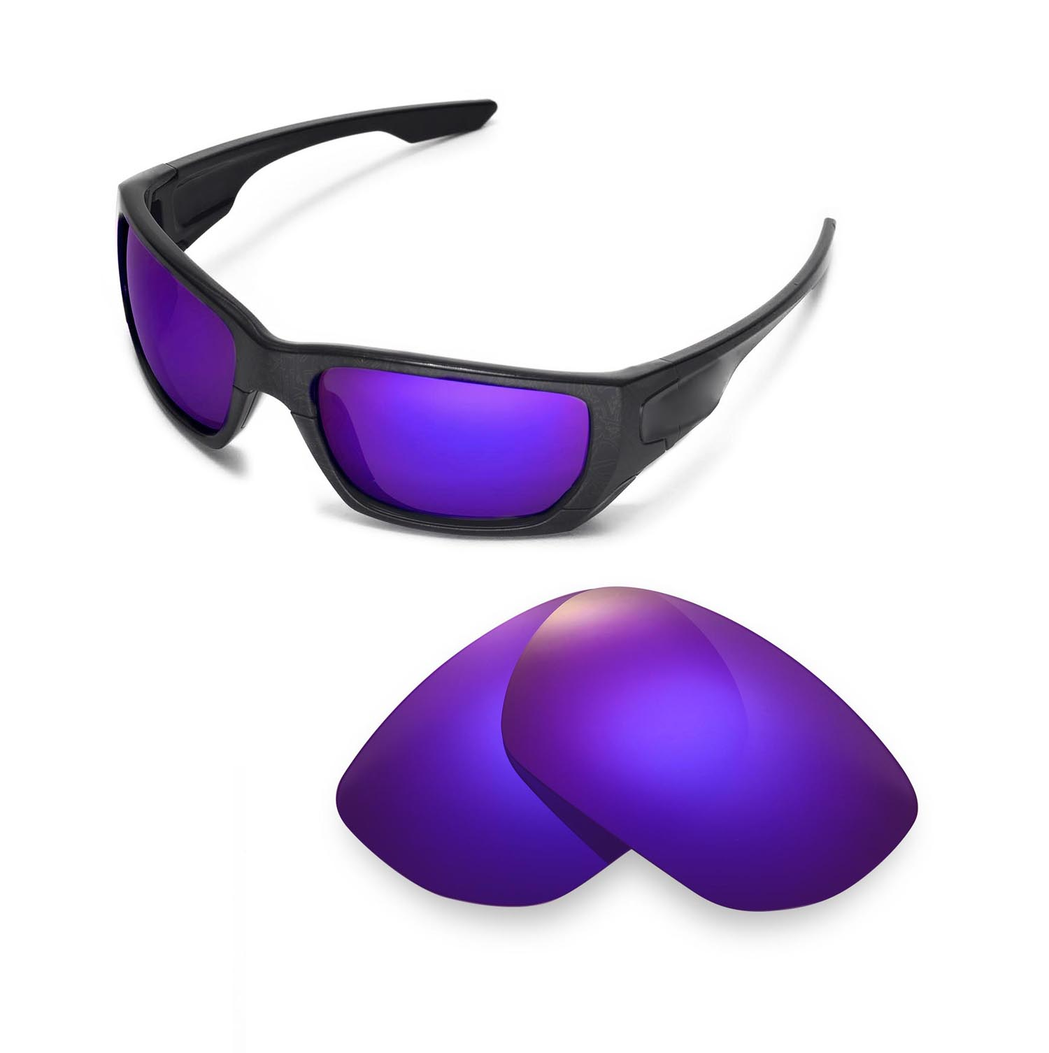 1235e95ea3a Details about Walleva Purple Polarized Replacement Lenses For Oakley Style  Switch Sunglasses