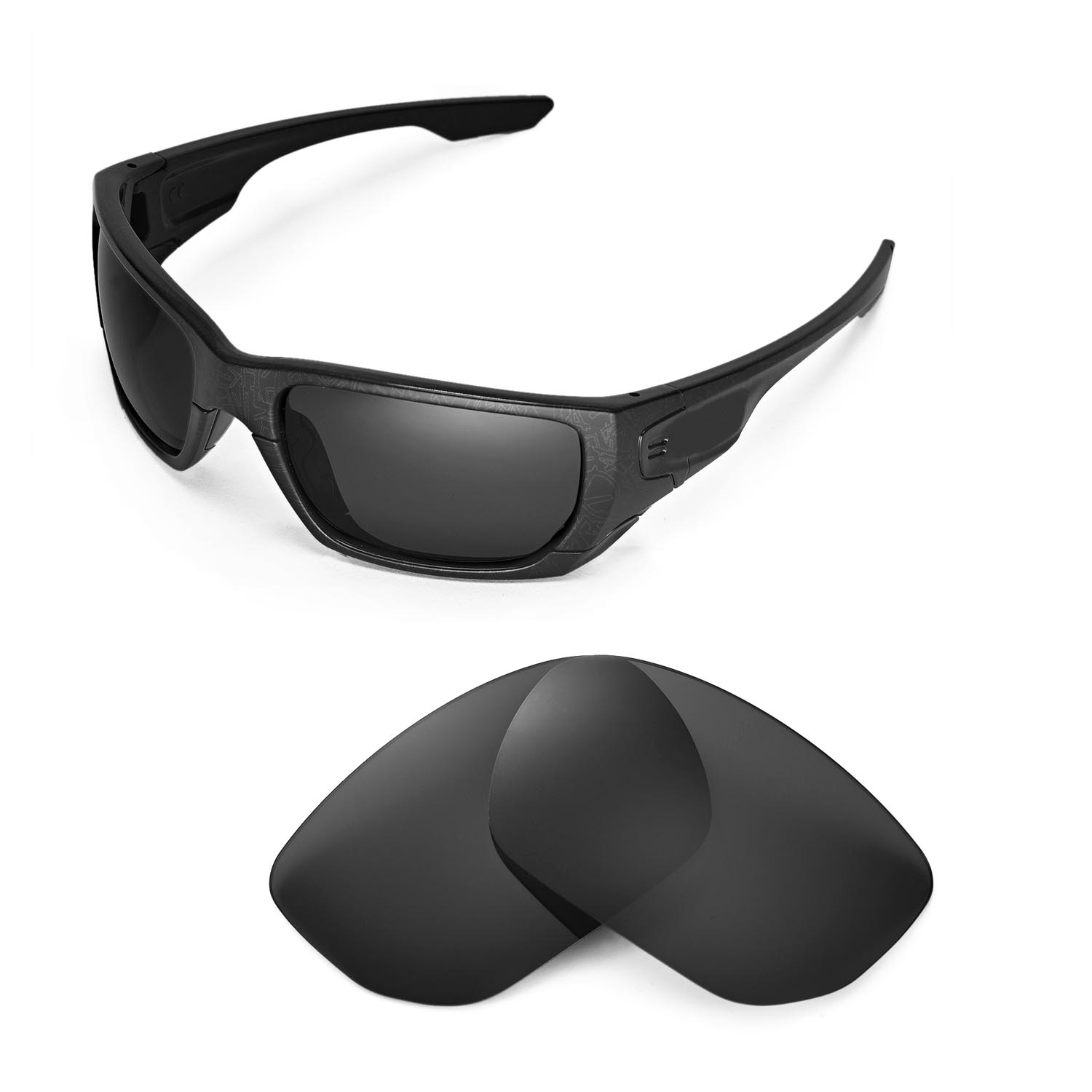 Walleva Black Polarized Replacement Lenses For Oakley Style Switch ... 8b4832882c