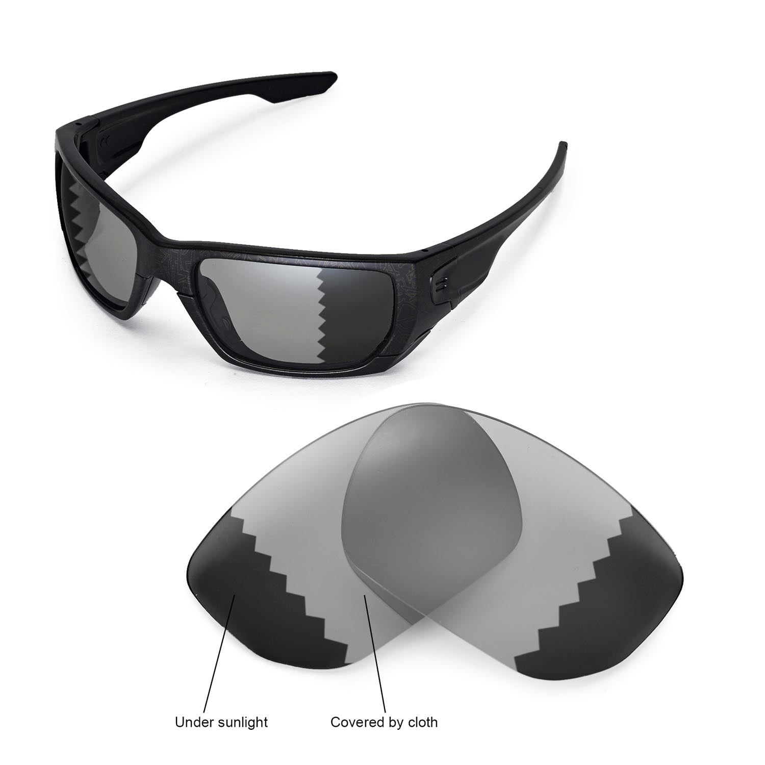 d20357f8ec Details about New Walleva Polarized Transition Photochromic Lenses For Oakley  Style Switch