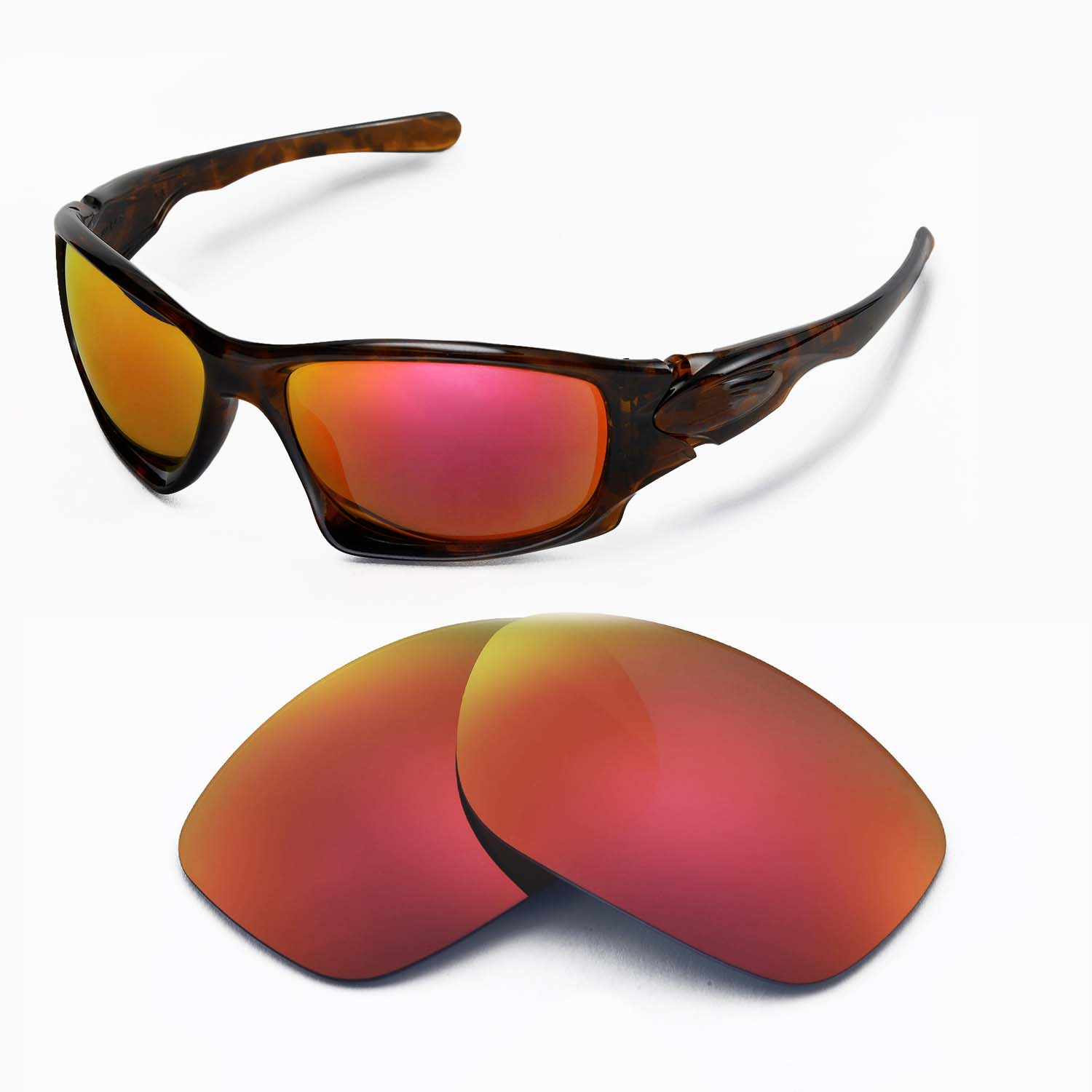 370771512c3 Details about New Walleva Polarized Fire Red Replacement Lenses For Oakley  Ten Sunglasses