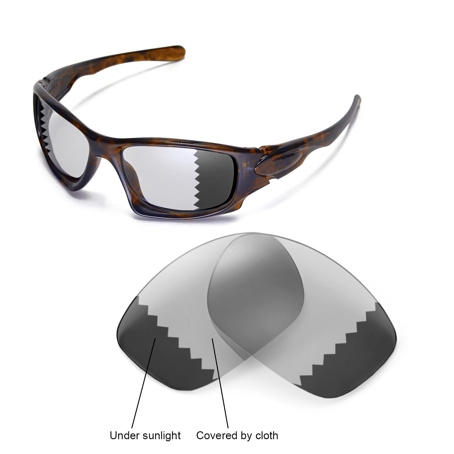 8a3db61178 Details about New Walleva Polarized Transition Photochromic Lenses For  Oakley Ten Sunglasses