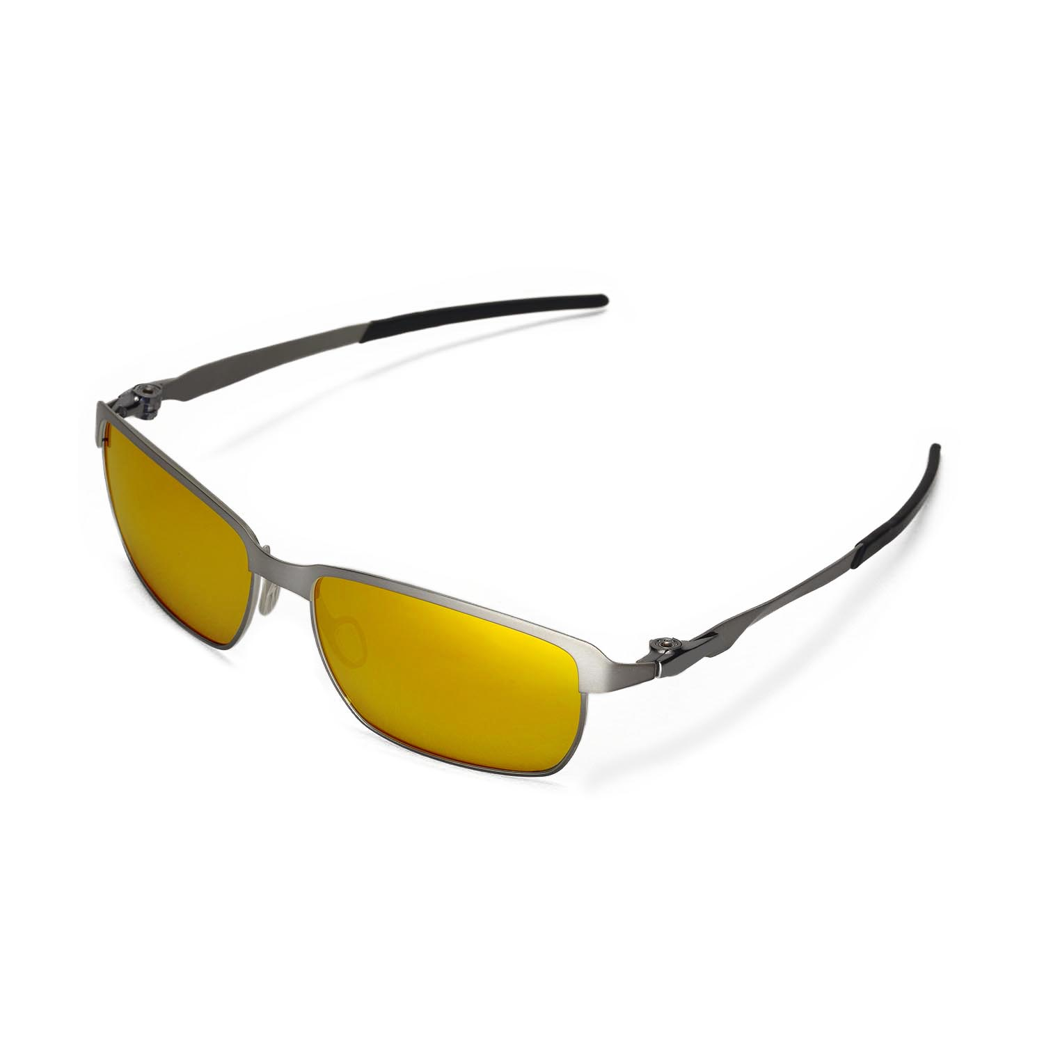 eea272a496f Details about New Walleva Polarized 24K Gold Lenses For Oakley Tinfoil  Sunglasses