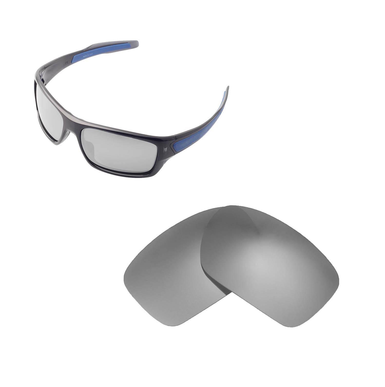 0a811edb55148 Detalhes sobre Lentes Walleva polarizadas titânio lentes De Reposição Para  Óculos De Sol Oakley Turbine- mostrar título no original