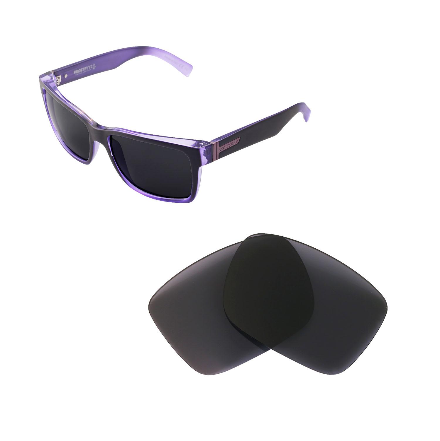 7cecbf4e65 Details about Walleva Polarized Black Replacement Lenses For VonZipper  Elmore