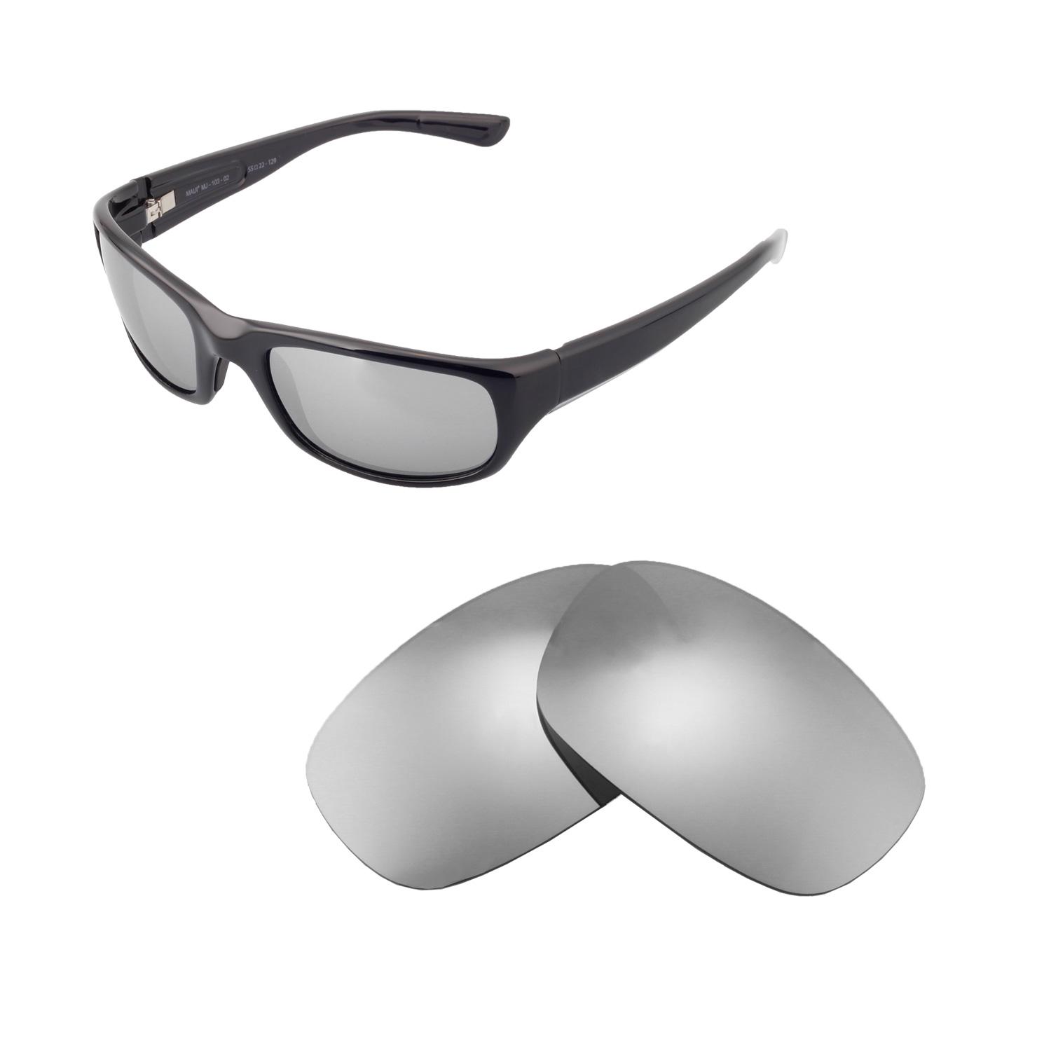 8cb6f22b9 Detalhes sobre Lentes Walleva polarizadas titânio lentes De Reposição Para  Maui Jim Óculos De Sol Stingray- mostrar título no original