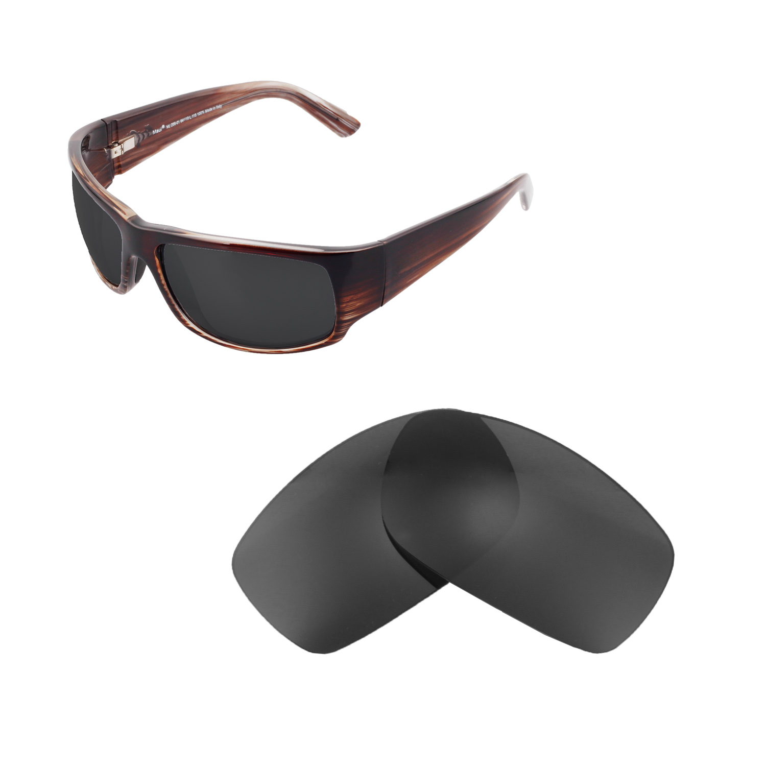 d095ea2befa Details about Walleva Replacement Lenses for Maui Jim World Cup Sunglasses-Multiple  Options