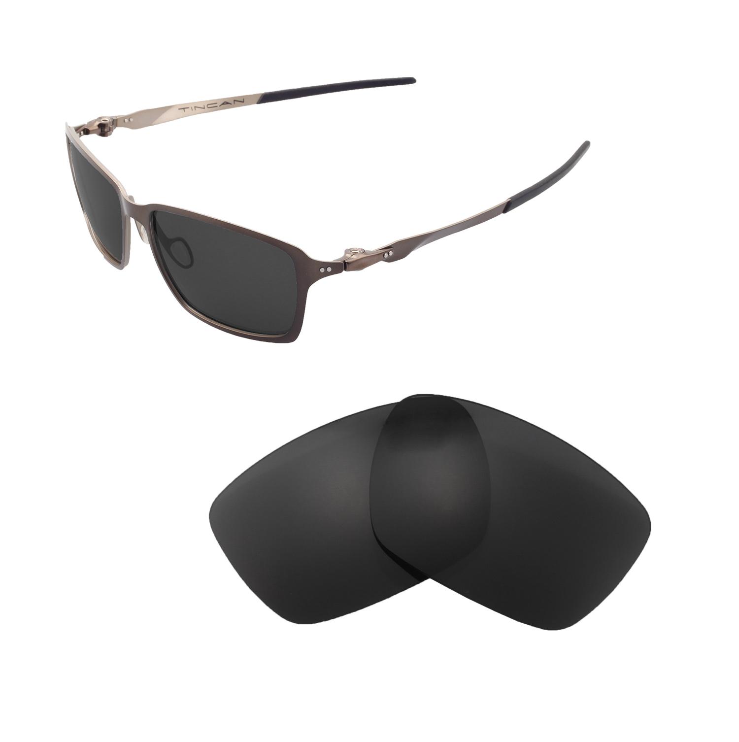 0d15272fa6d Details about Walleva Polarized Black Replacement Lenses For Oakley Tincan  Sunglasses