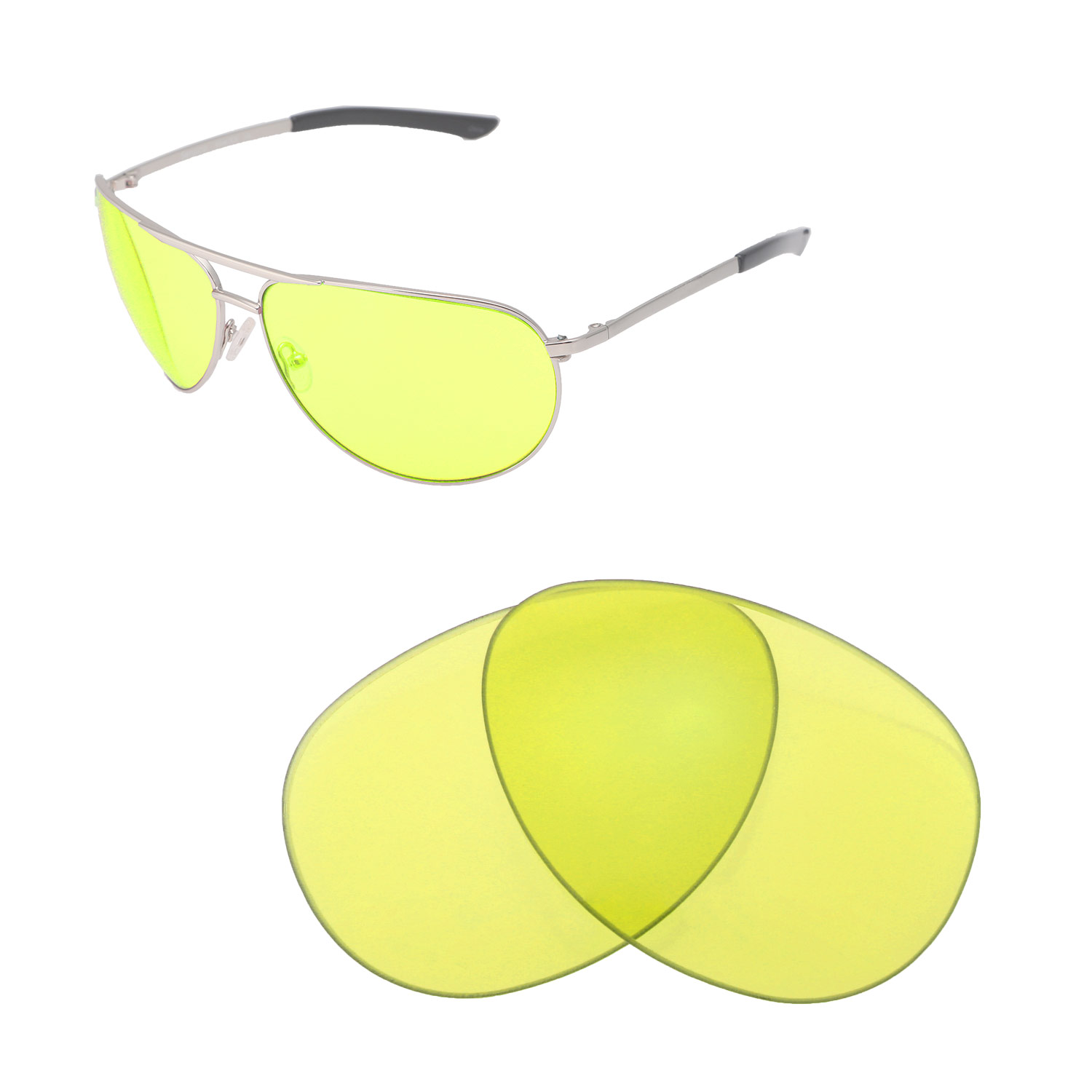 d520516032 Details about New Walleva Yellow Non-Polarized Replacement Lenses For Smith  Serpico Sunglasses