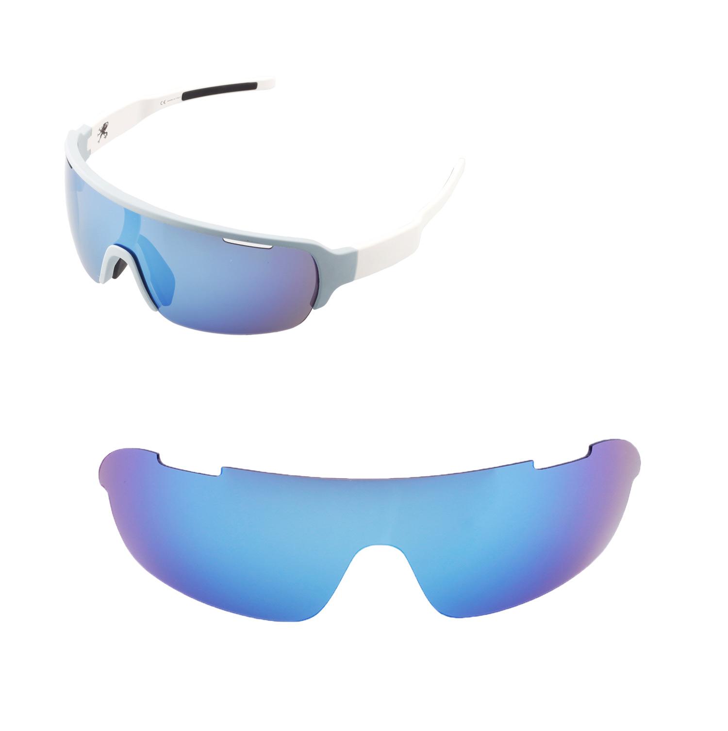 0c6e05de03 Details about Walleva Polarized Ice Blue Replacement Lenses For POC Half  Blade Sunglasses