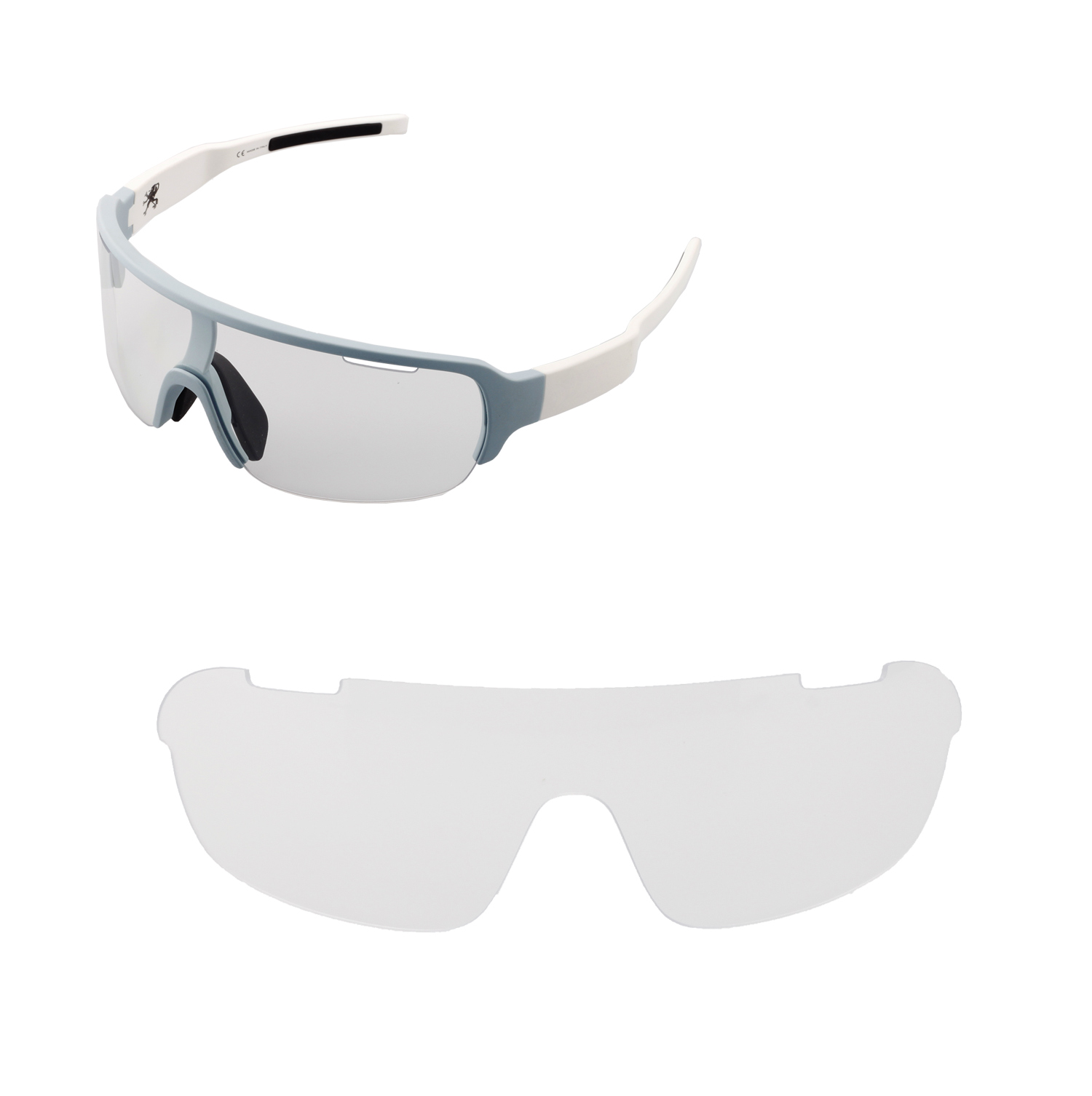 7497ff905b6 Details about Walleva Non-Polarized Clear Replacement Lenses For POC Half  Blade Sunglasses