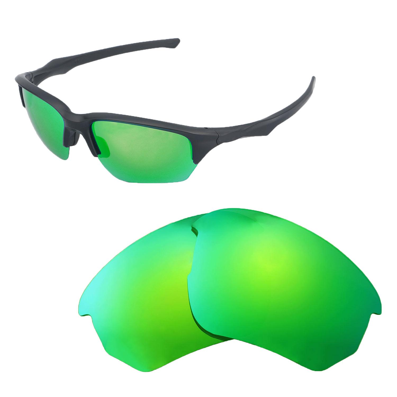fe49c7b637 Details about Walleva Polarized Emerald Replacement Lenses For Oakley Flak  Beta Sunglasses
