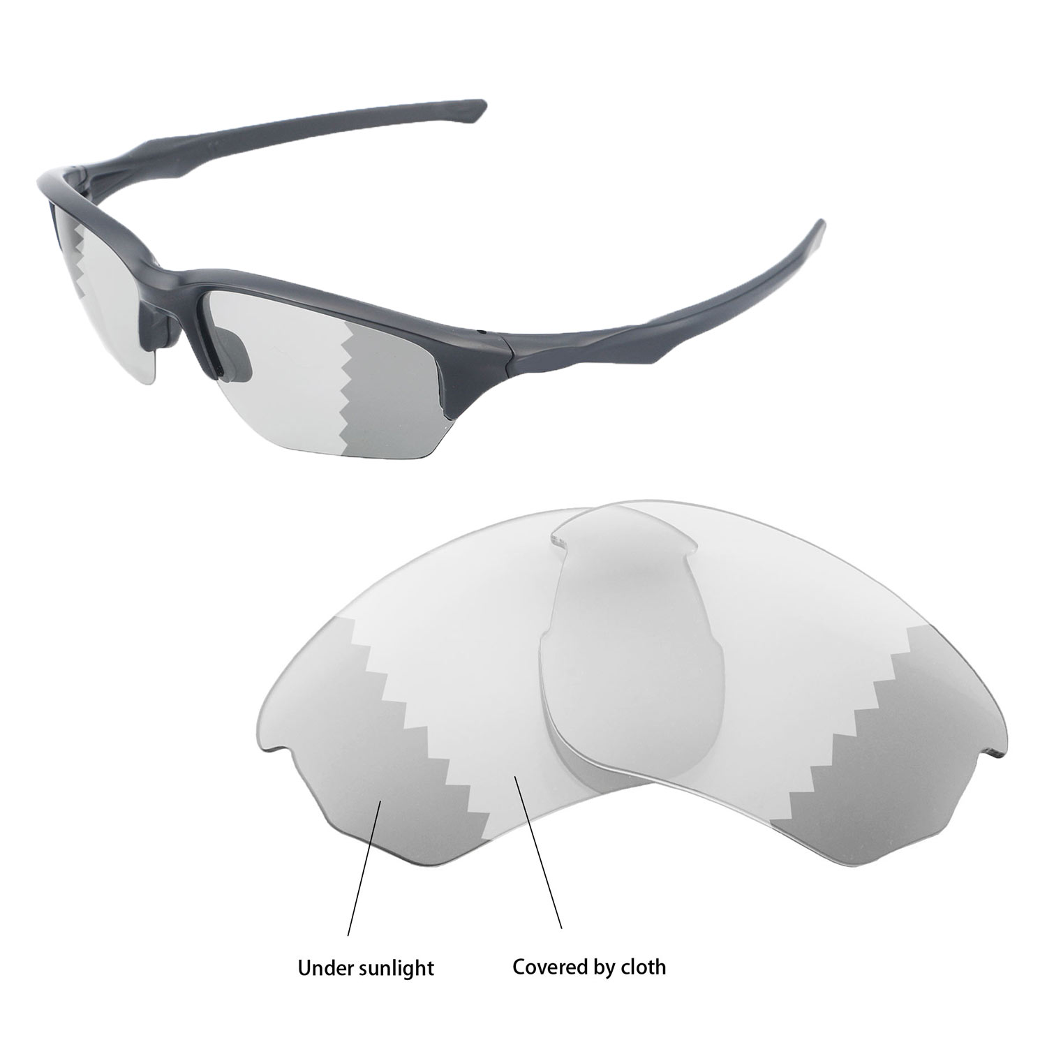 70f6d76812 Details about Walleva Polarized Transition/Photochromic Lenses For Oakley  Flak Beta Sunglasses