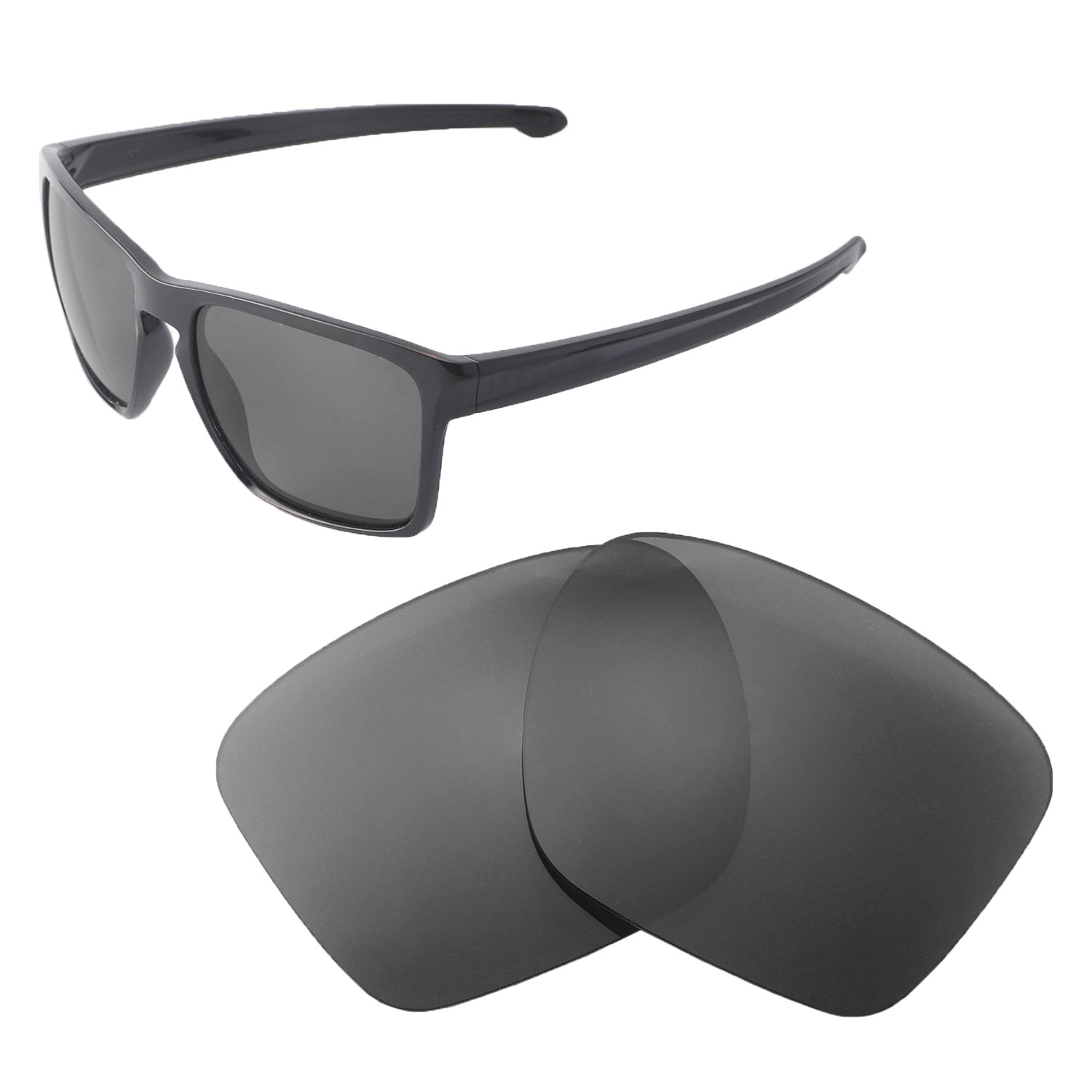 3e2f7484c51 Details about New Walleva Black Polarized Replacement Lenses For Oakley  Sliver XL Sunglasses