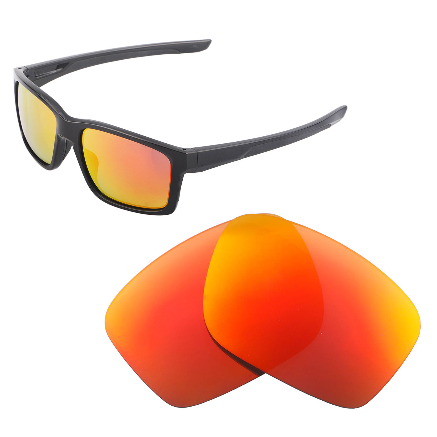 426d55e1e4b Details about Walleva Polarized Fire Red Replacement Lenses For Oakley  Mainlink Sunglasses