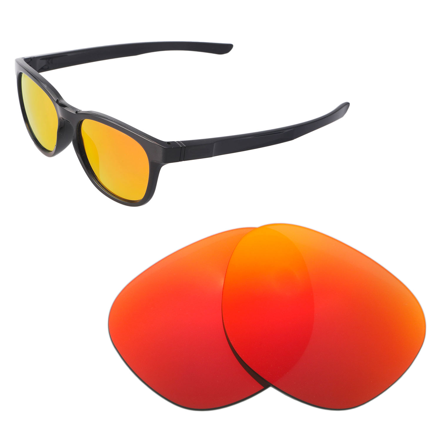 c7efbc428b2 Details about Walleva Polarized Fire Red Replacement Lenses For Oakley  Stringer Sunglasses