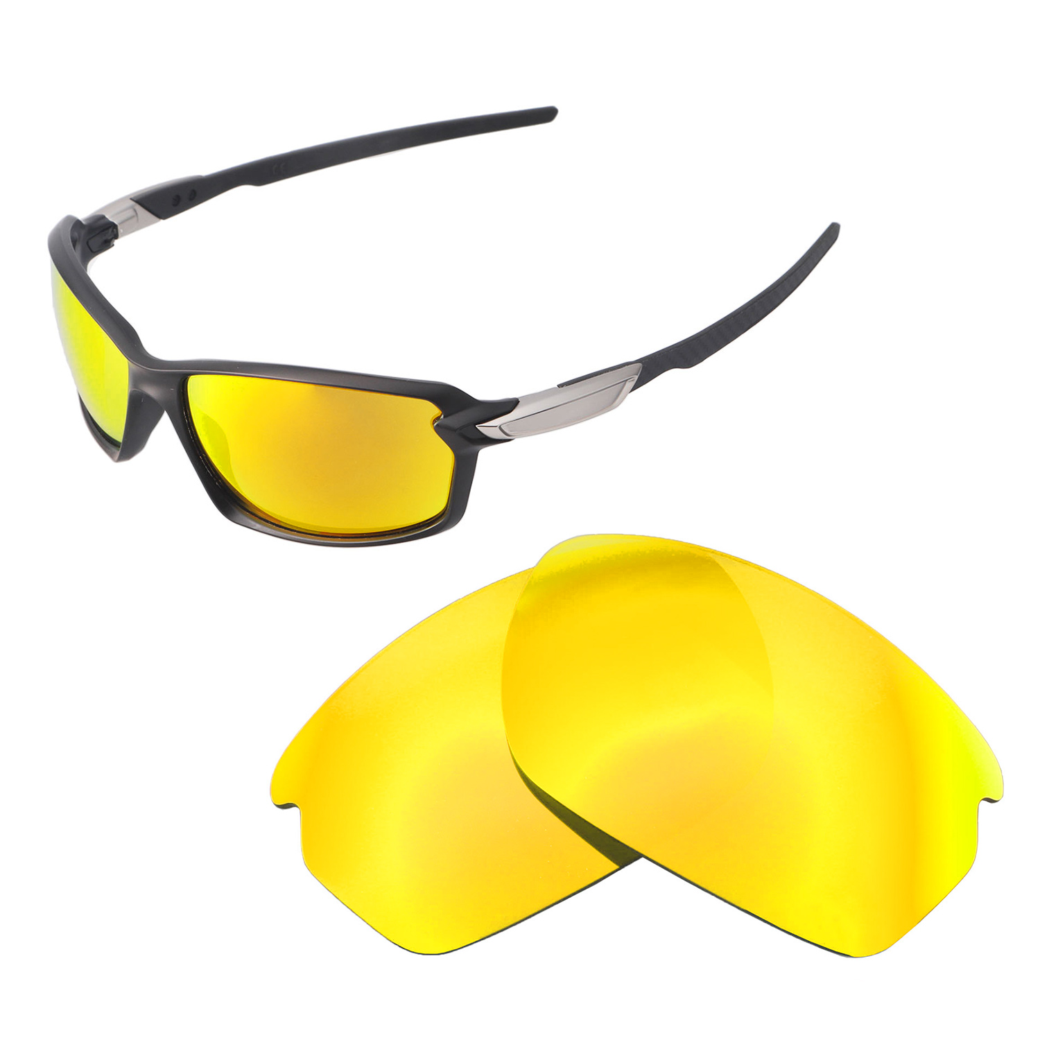 88bc17347d Details about Walleva 24K Gold Polarized Replacement Lenses For Oakley  Carbon Shift Sunglasses