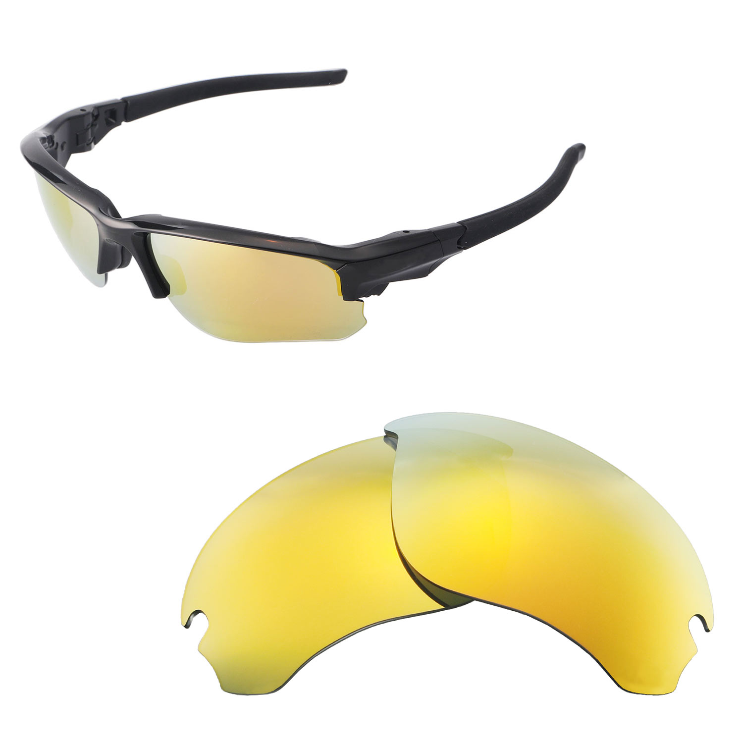 Walleva Polarized Lenses For Oakley Flak Draft - Selected Color x1 96a46ee1ff