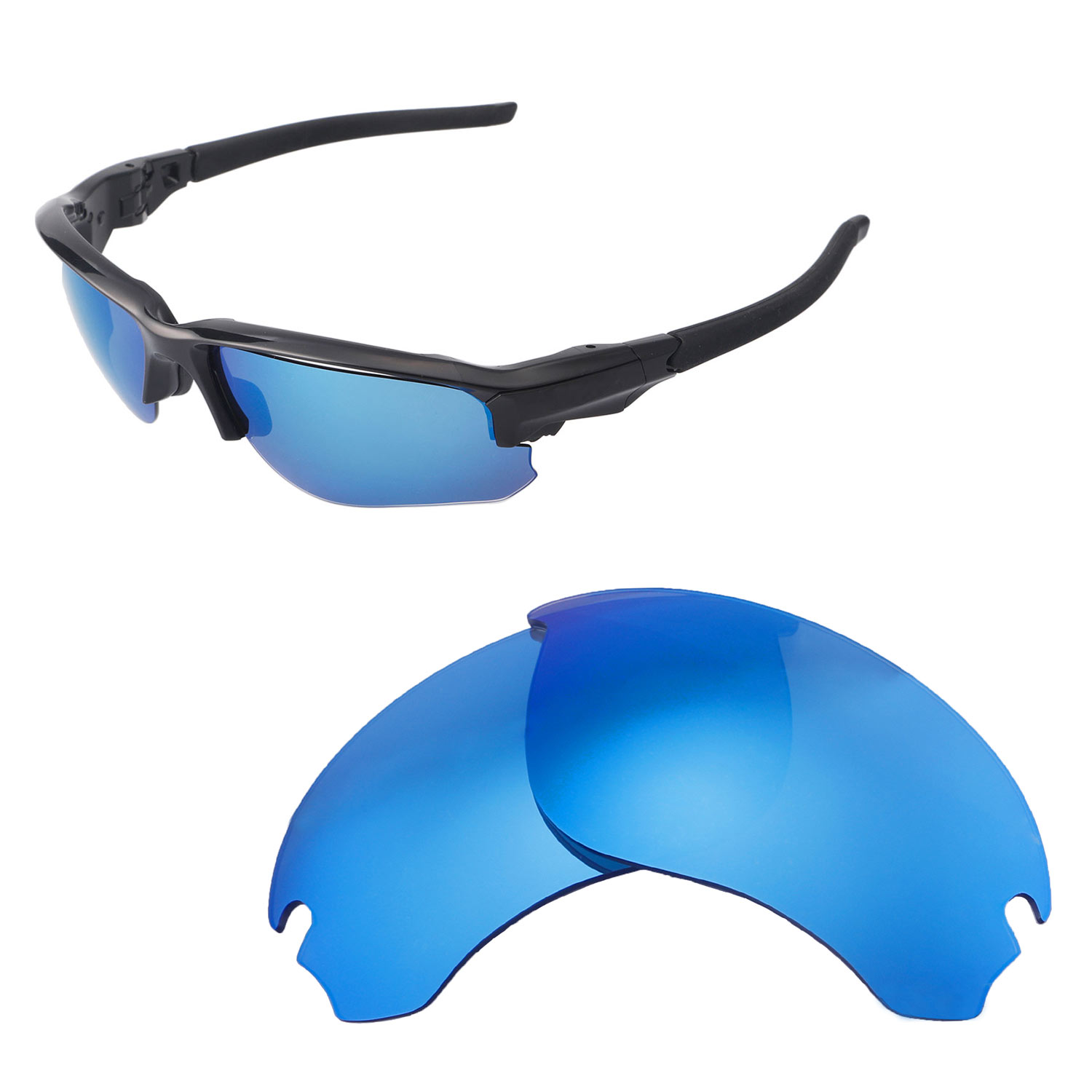 4784cc9c0f Details about Walleva Replacement Lenses for Oakley Flak Draft Sunglasses -  Multiple Options