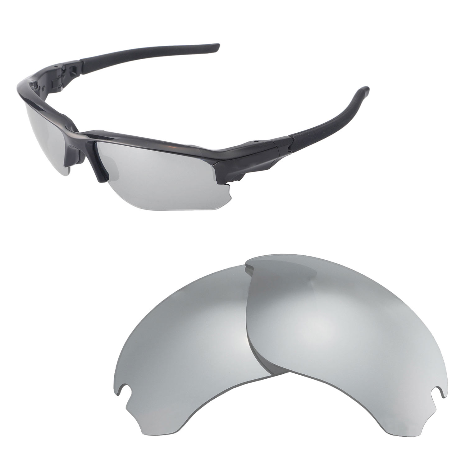 0402c2e83e8 Details about Walleva Titanium Polarized Replacement Lenses For Oakley Flak  Draft Sunglasses