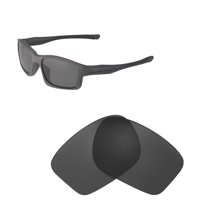 621a3dd825 Details about Walleva Black + Titanium Polarized Replacement Lenses For  Oakley Chainlink