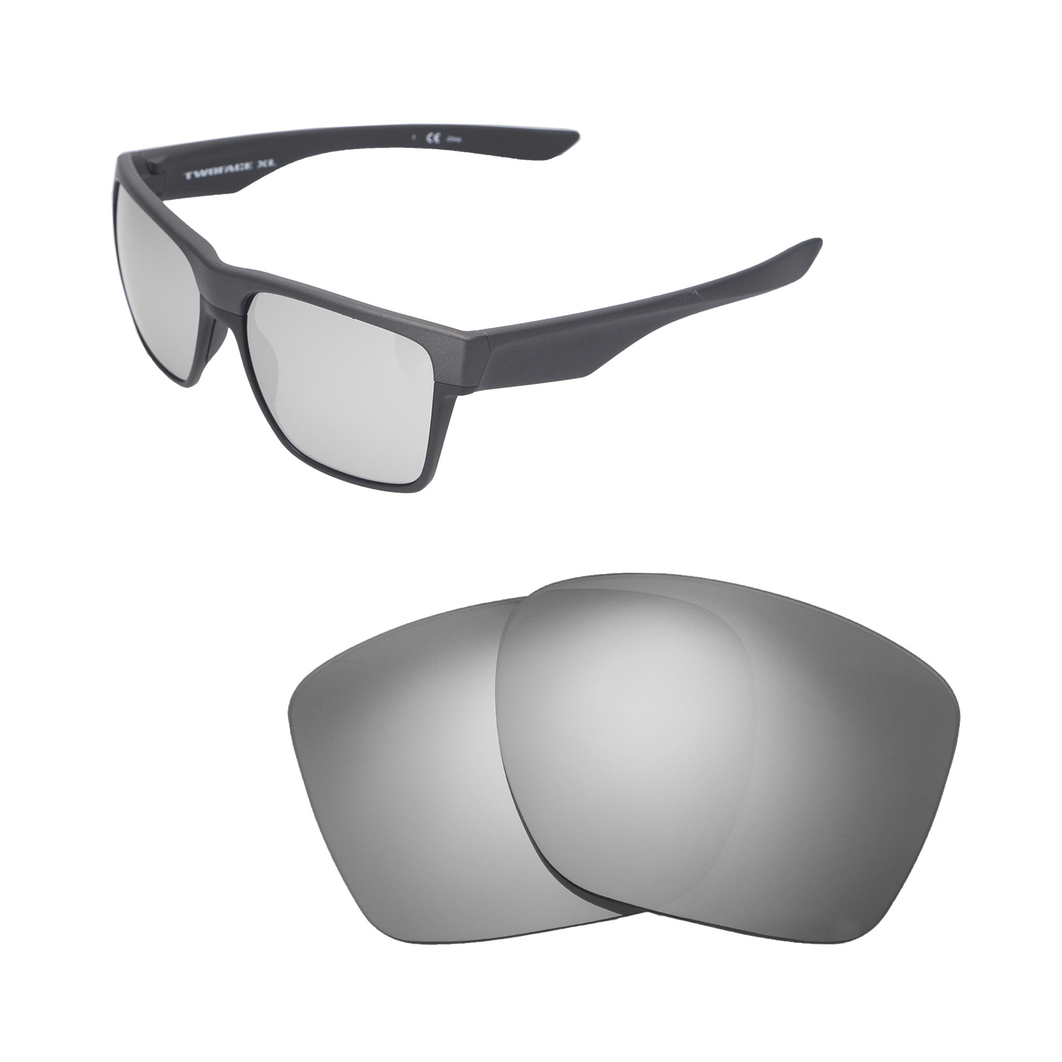 5e460c4169 Details about Walleva Titanium Polarized Replacement Lenses For Oakley  TwoFace XL Sunglasses